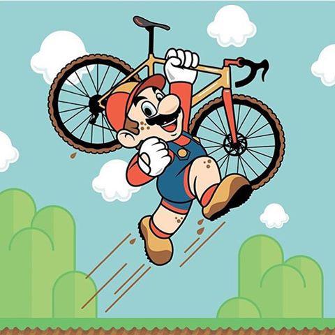 Super Mária bicykluje IV.